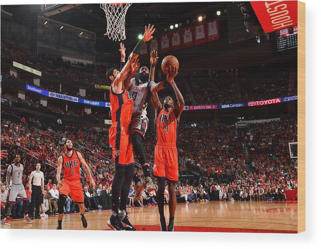 Nba Pro Basketball Wood Print featuring the photograph James Harden by Jesse D. Garrabrant