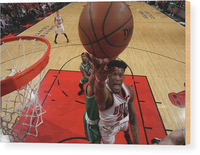 Playoffs Wood Print featuring the photograph Jimmy Butler by Gary Dineen