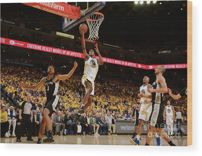 Playoffs Wood Print featuring the photograph Kevon Looney by Noah Graham