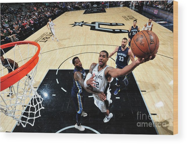 Nba Pro Basketball Wood Print featuring the photograph Lamarcus Aldridge by Mark Sobhani