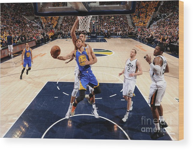 Playoffs Wood Print featuring the photograph Stephen Curry by Andrew D. Bernstein