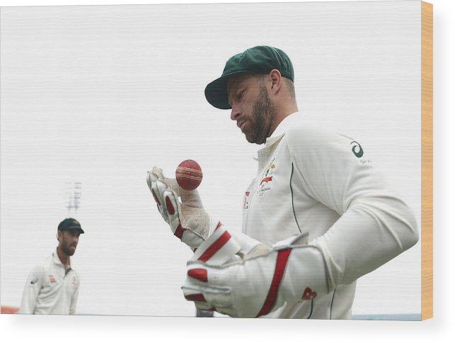 International Match Wood Print featuring the photograph Bangladesh v Australia - 2nd Test: Day 4 by Robert Cianflone