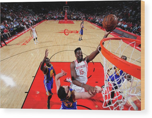 Nba Pro Basketball Wood Print featuring the photograph Clint Capela by Bill Baptist
