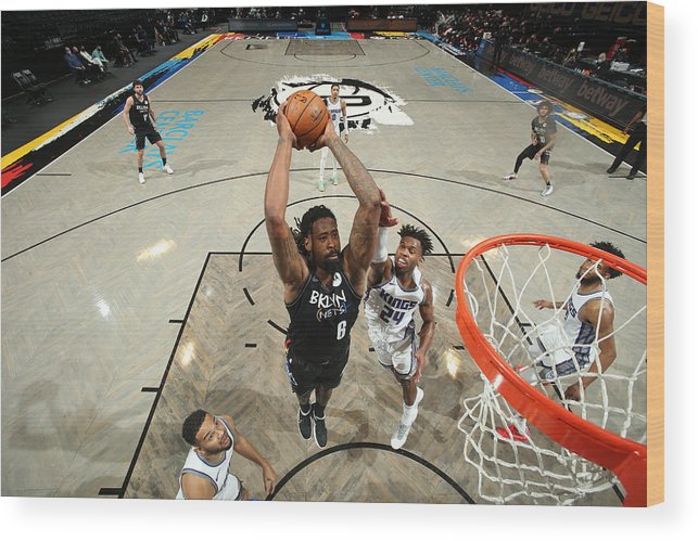 Nba Pro Basketball Wood Print featuring the photograph Deandre Jordan by Nathaniel S. Butler