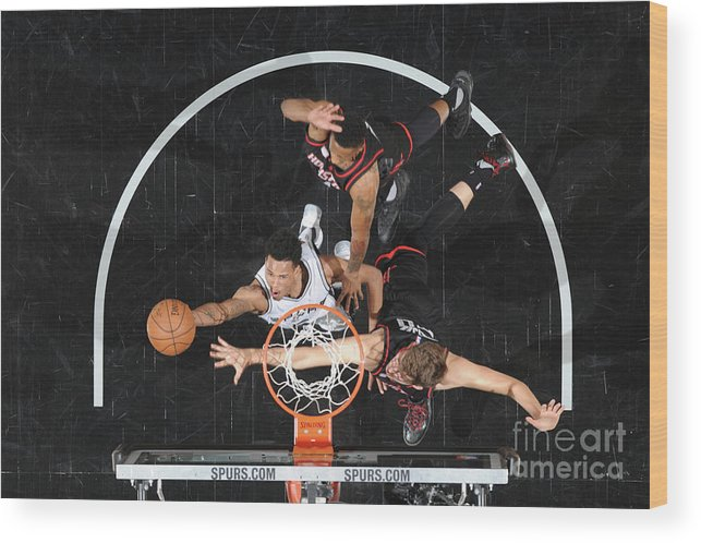 Playoffs Wood Print featuring the photograph Dejounte Murray by Mark Sobhani