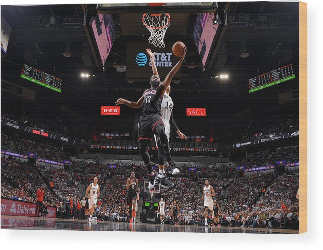 Playoffs Wood Print featuring the photograph James Harden by Jesse D. Garrabrant