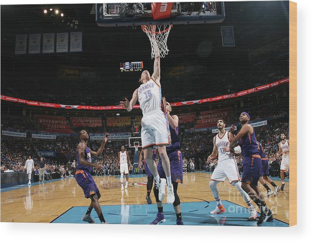 Nba Pro Basketball Wood Print featuring the photograph Kyle Singler by Layne Murdoch
