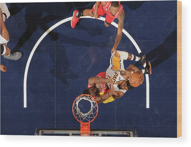 Nba Pro Basketball Wood Print featuring the photograph Paul George by Ron Hoskins