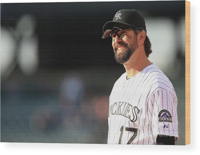 Todd Helton Wood Print featuring the photograph Todd Helton by Doug Pensinger
