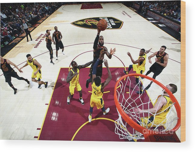 Playoffs Wood Print featuring the photograph Lebron James by Nathaniel S. Butler