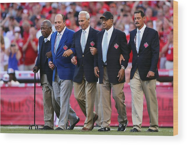 Great American Ball Park Wood Print featuring the photograph 86th MLB All-Star Game by Elsa