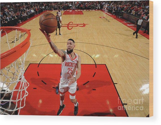 Nba Pro Basketball Wood Print featuring the photograph Austin Rivers by Bill Baptist