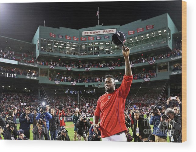Three Quarter Length Wood Print featuring the photograph David Ortiz by Maddie Meyer