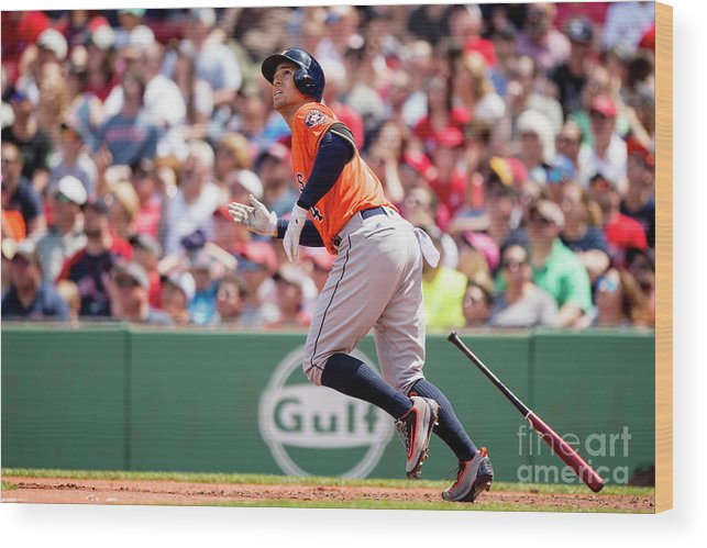 Second Inning Wood Print featuring the photograph George Springer by Billie Weiss/boston Red Sox