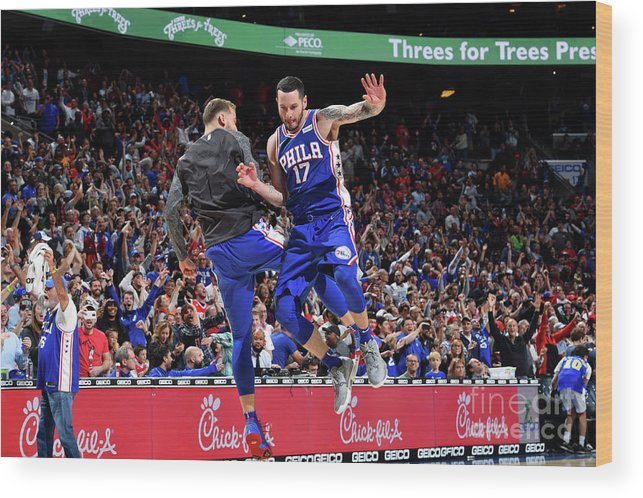 Nba Pro Basketball Wood Print featuring the photograph J.j. Redick by Jesse D. Garrabrant