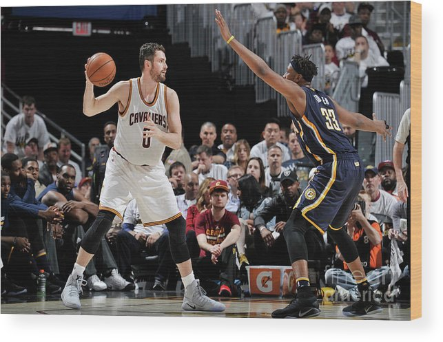 Playoffs Wood Print featuring the photograph Kevin Love by David Liam Kyle