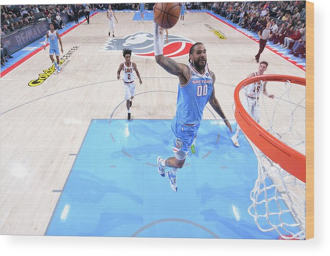Nba Pro Basketball Wood Print featuring the photograph Willie Cauley-stein by Rocky Widner