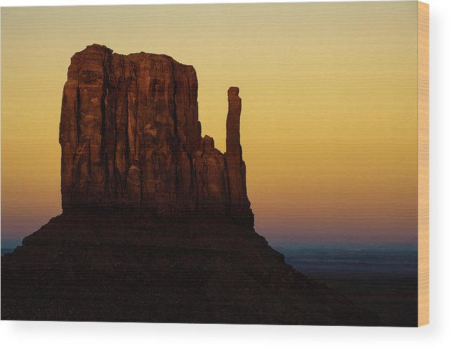 America Wood Print featuring the photograph A Monument of Stone - Monument Valley Tribal Park by Gregory Ballos