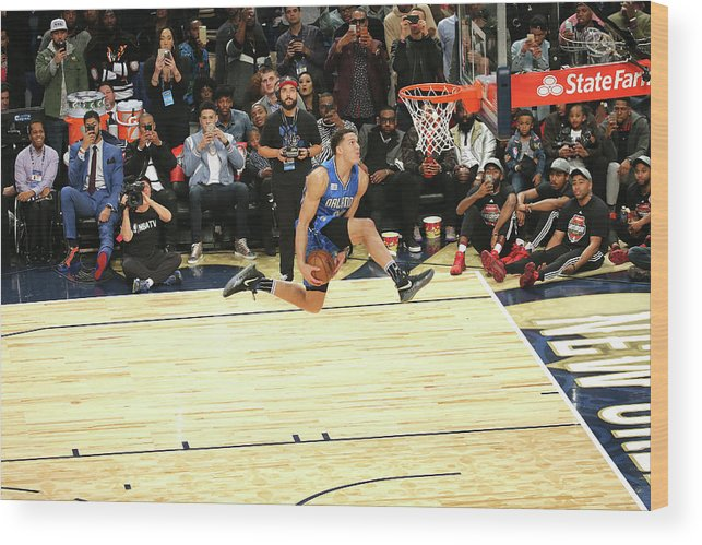 Event Wood Print featuring the photograph Aaron Gordon by Bruce Yeung