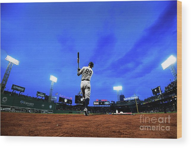 On-deck Circle Wood Print featuring the photograph Aaron Judge by Adam Glanzman