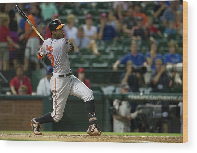 American League Baseball Wood Print featuring the photograph Adam Jones by Cooper Neill