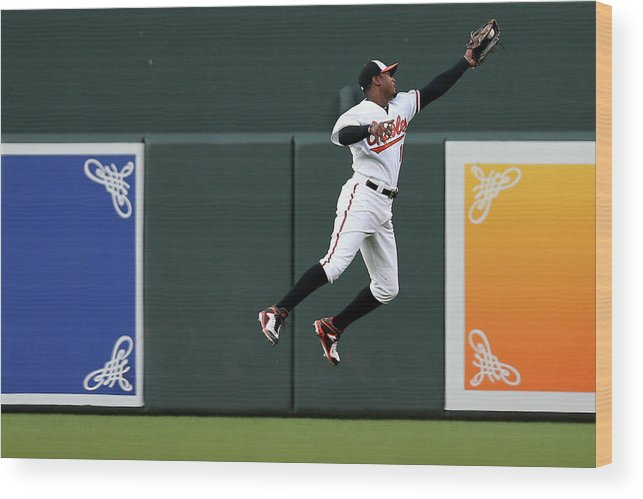 Second Inning Wood Print featuring the photograph Adam Jones by Patrick Smith