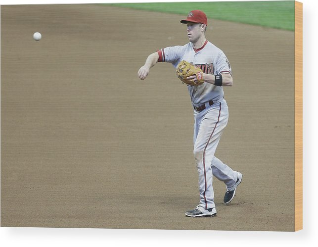 People Wood Print featuring the photograph Adam Lind and Chris Owings by Mike Mcginnis