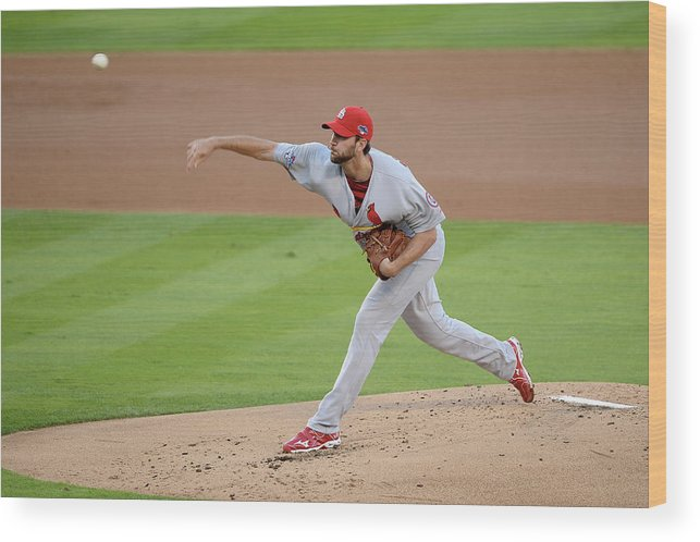 St. Louis Cardinals Wood Print featuring the photograph Adam Wainwright by Harry How