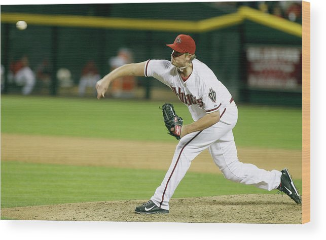 Ninth Inning Wood Print featuring the photograph Addison Reed by Ralph Freso