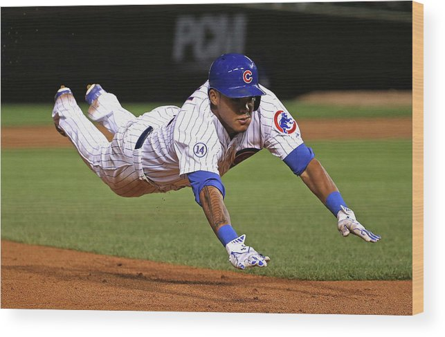 People Wood Print featuring the photograph Addison Russell by Jonathan Daniel