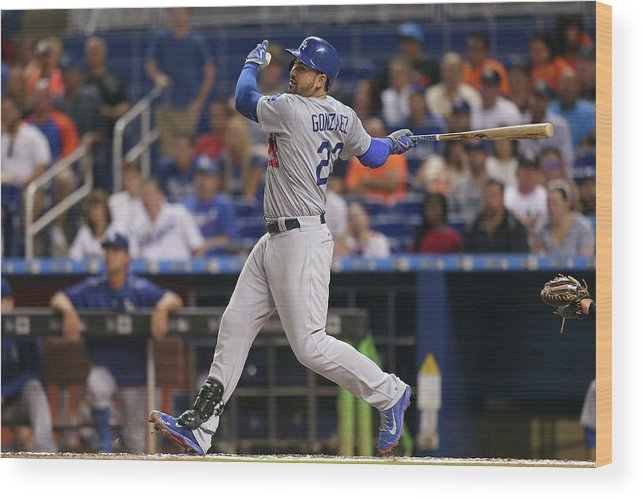 People Wood Print featuring the photograph Adrian Gonzalez by Rob Foldy