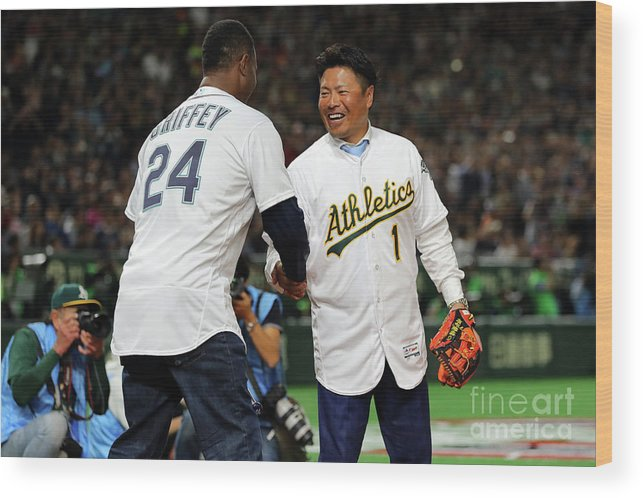International Match Wood Print featuring the photograph Akinori Iwamura by Alex Trautwig