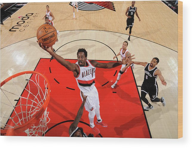Nba Pro Basketball Wood Print featuring the photograph Al-farouq Aminu by Cameron Browne