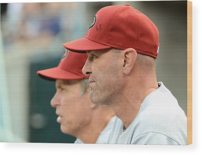 American League Baseball Wood Print featuring the photograph Alan Trammell and Kirk Gibson by Mark Cunningham