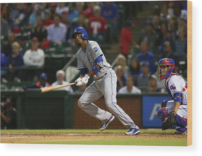 People Wood Print featuring the photograph Alcides Escobar by Ronald Martinez