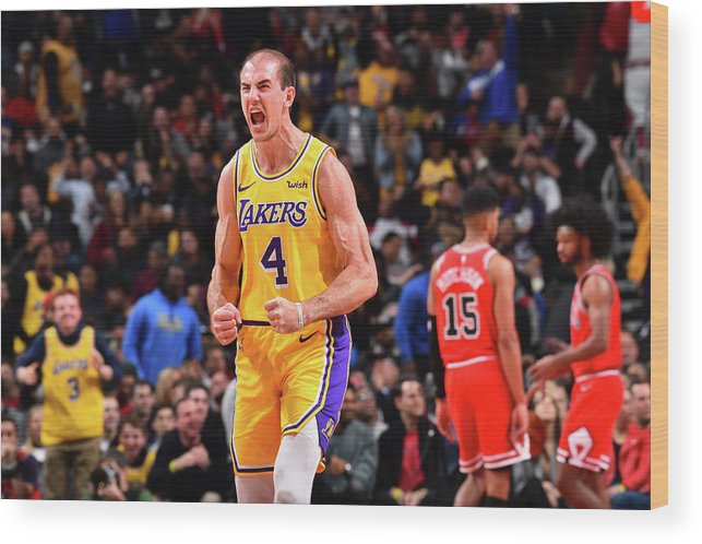 Nba Pro Basketball Wood Print featuring the photograph Alex Caruso by Jesse D. Garrabrant