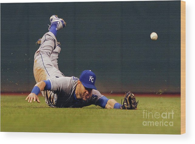 People Wood Print featuring the photograph Alex Gordon and Jason Kipnis by David Maxwell