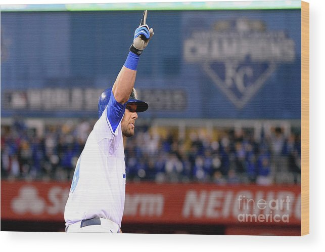 Playoffs Wood Print featuring the photograph Alex Gordon by Ron Vesely
