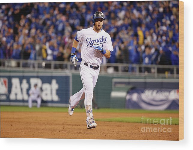 Ninth Inning Wood Print featuring the photograph Alex Gordon by Sean M. Haffey