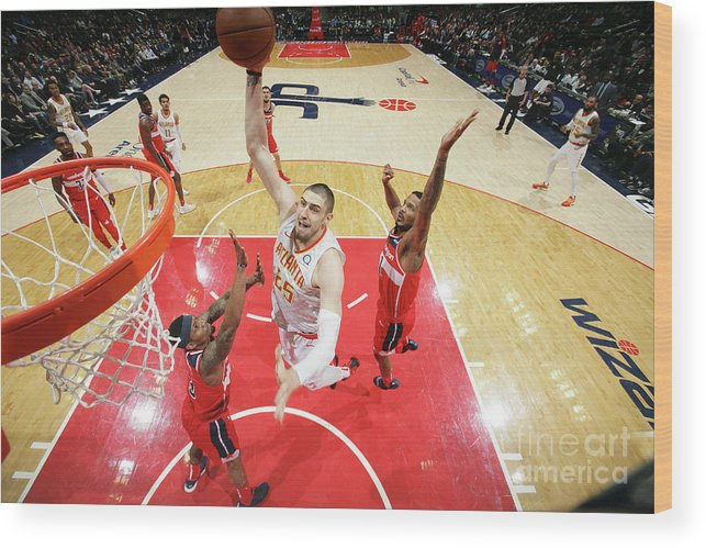 Nba Pro Basketball Wood Print featuring the photograph Alex Len by Ned Dishman