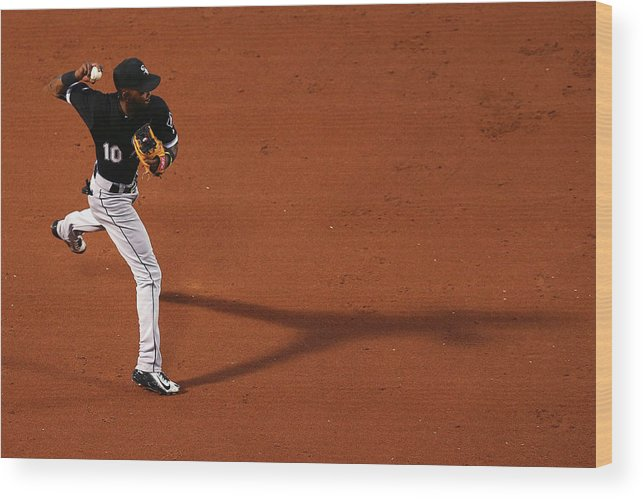 Second Inning Wood Print featuring the photograph Alexei Ramirez and Rusney Castillo by Maddie Meyer