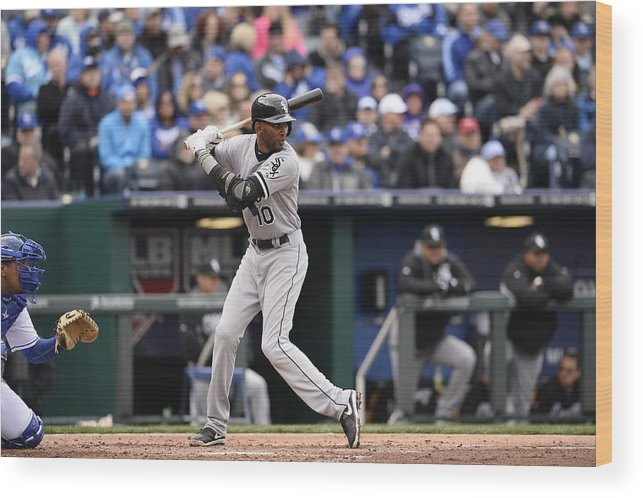 American League Baseball Wood Print featuring the photograph Alexei Ramirez by John Williamson