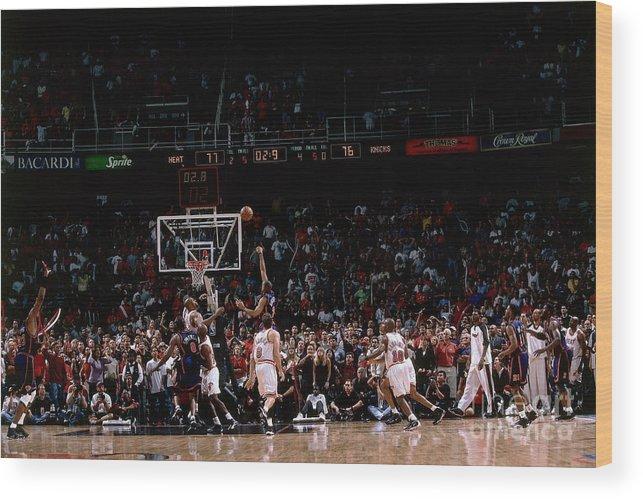 Playoffs Wood Print featuring the photograph Allan Houston by Fernando Medina