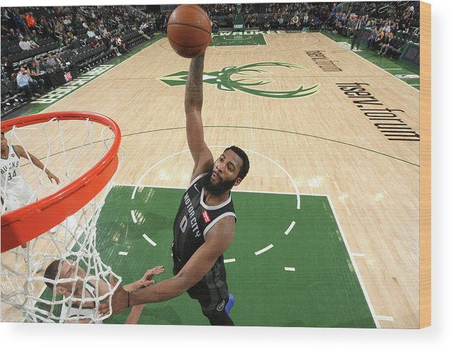 Playoffs Wood Print featuring the photograph Andre Drummond by Gary Dineen