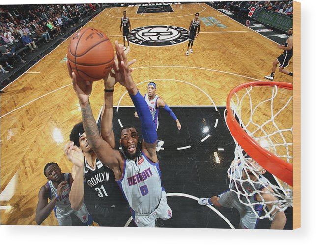 Nba Pro Basketball Wood Print featuring the photograph Andre Drummond by Nathaniel S. Butler