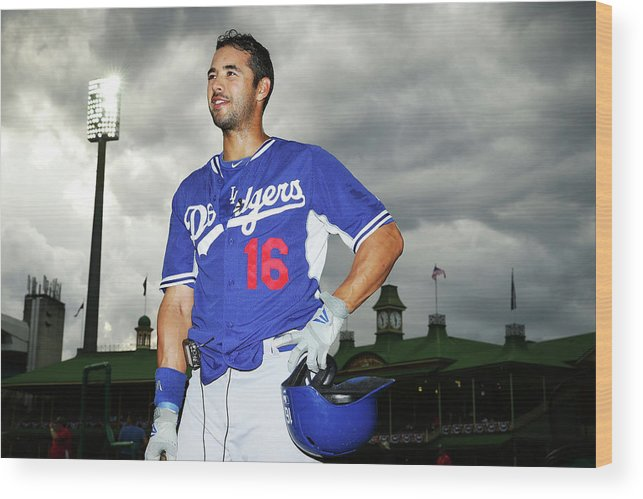 Season Wood Print featuring the photograph Andre Ethier by Matt King
