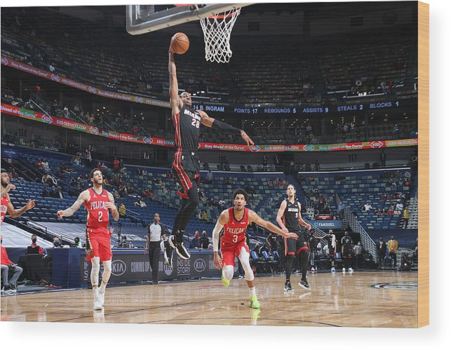 Smoothie King Center Wood Print featuring the photograph Andre Iguodala by Layne Murdoch Jr.