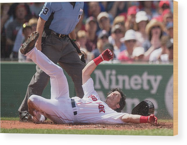 Second Inning Wood Print featuring the photograph Andrew Benintendi by Billie Weiss/boston Red Sox