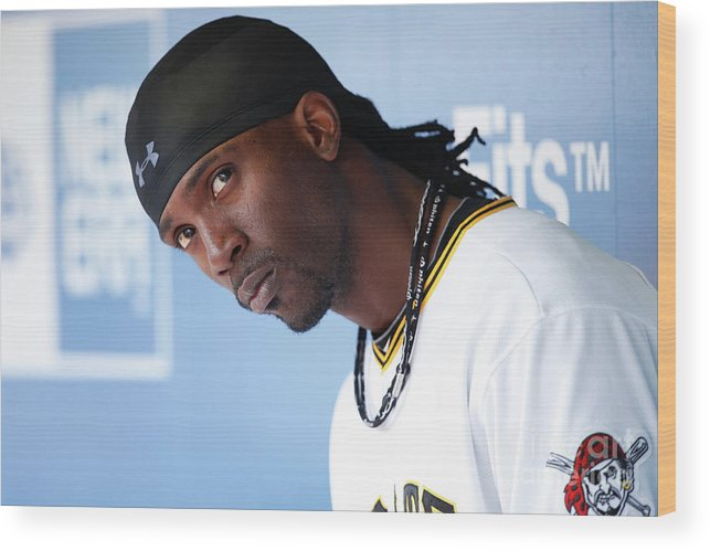 Pnc Park Wood Print featuring the photograph Andrew Mccutchen by Joe Robbins