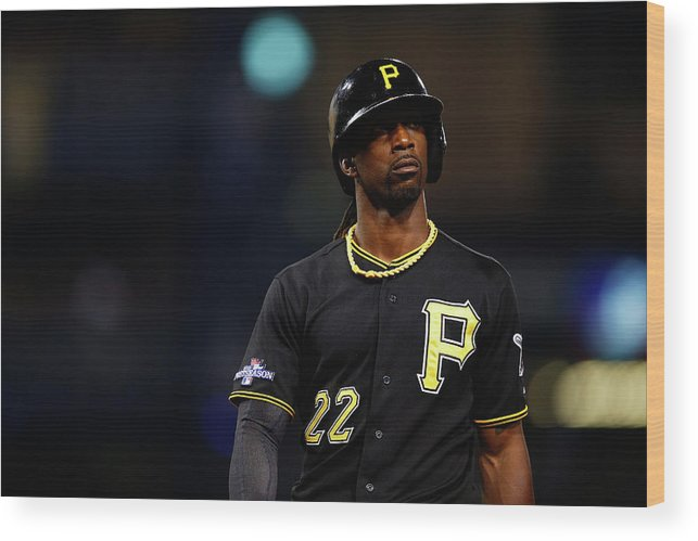 American League Baseball Wood Print featuring the photograph Andrew Mccutchen by Justin K. Aller
